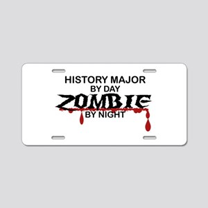 History Major Zombie Aluminum License Plate