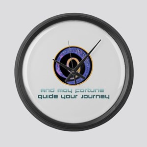 May fortune guide your journey Large Wall Clock