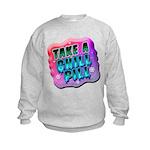 Take A Chill Pill Kids Sweatshirt