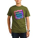 Take A Chill Pill Organic Men's T-Shirt (dark)