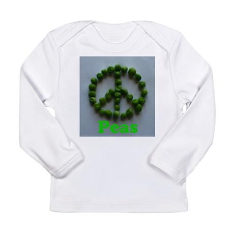 Peas (Peace) Long Sleeve Infant T-Shirt