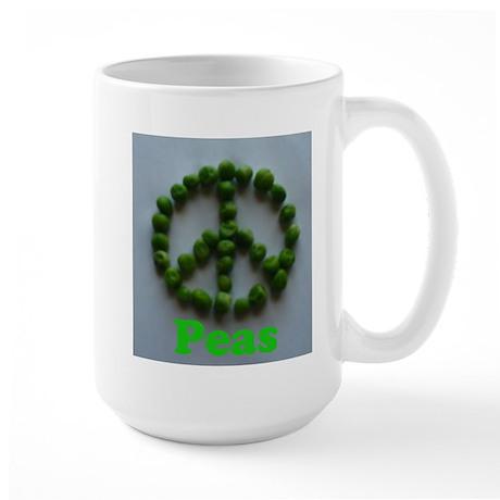 Peas (Peace) Large Mug