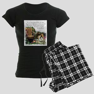 Boerboel Art Gifts Women's Dark Pajamas