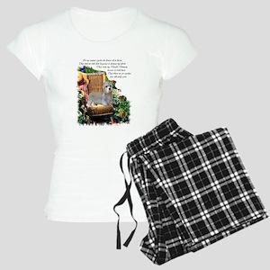 dandie dinmont garden 1 Women's Light Pajamas