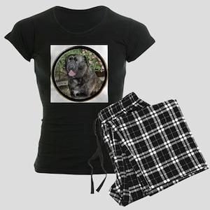 Bullmastiff Art Women's Dark Pajamas