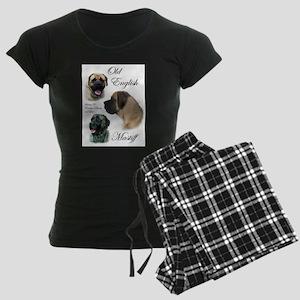 mastiff trio brushed 3 Women's Dark Pajamas