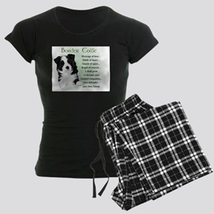 BorderCollieHeritageLoveC Women's Dark Pajamas