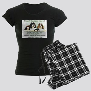 Springer Spaniel Women's Dark Pajamas