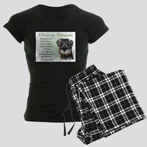 Miniature Schnauzer Women's Dark Pajamas