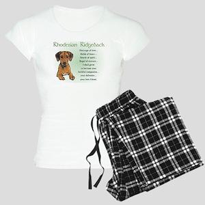 Rhodesian Ridgeback Women's Light Pajamas