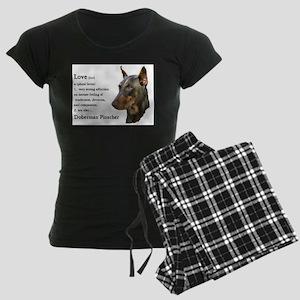Doberman Pinscher Gifts Women's Dark Pajamas