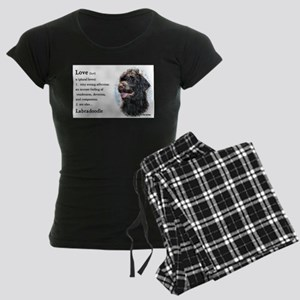 Labradoodle Gifts Women's Dark Pajamas