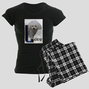 Bichon Frise Love Women's Dark Pajamas