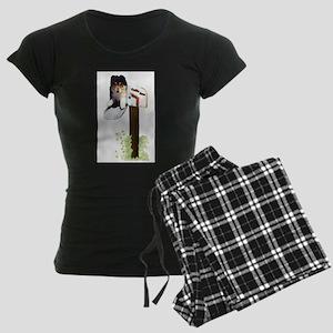 starmailpup3 Women's Dark Pajamas