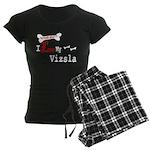 NB_Vizsla Women's Dark Pajamas