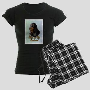 Coonhound_1 Women's Dark Pajamas