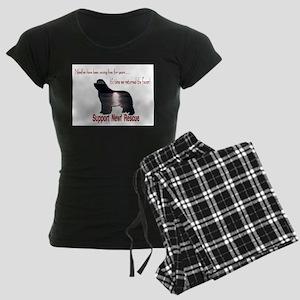 Support Newf Rescue Women's Dark Pajamas
