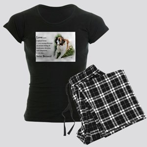 Saint Bernard Gifts Women's Dark Pajamas