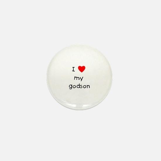 I love my godson Mini Button