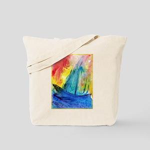sailboat! Colorful art! Tote Bag