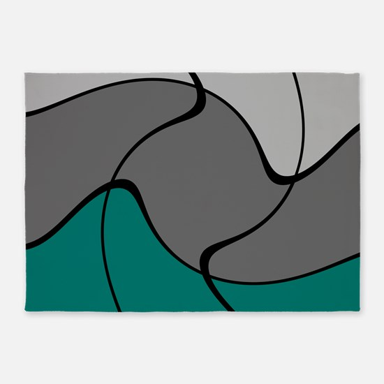 Art Infusion in Teal 5'x7'Area Rug