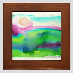 landscape, colorful art! Framed Tile