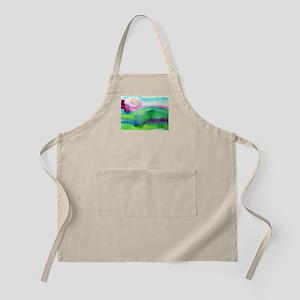 landscape, colorful art! Apron