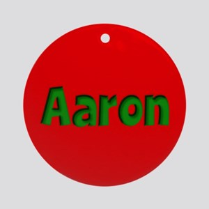 Aaron Red and Green Ornament (Round)