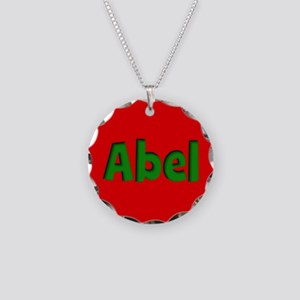 Abel Red and Green Necklace Circle Charm