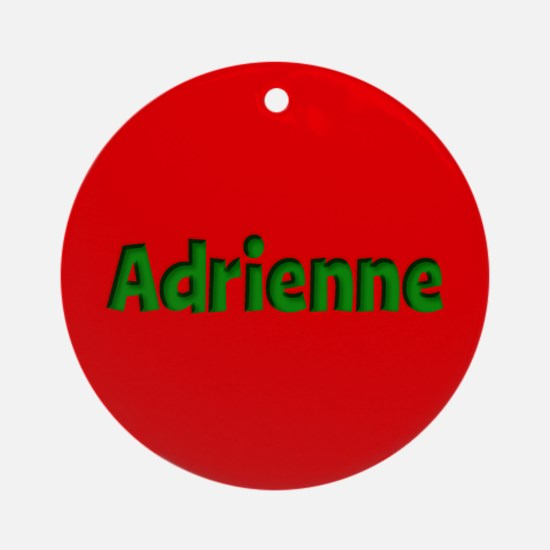 Adrienne Red and Green Ornament (Round)