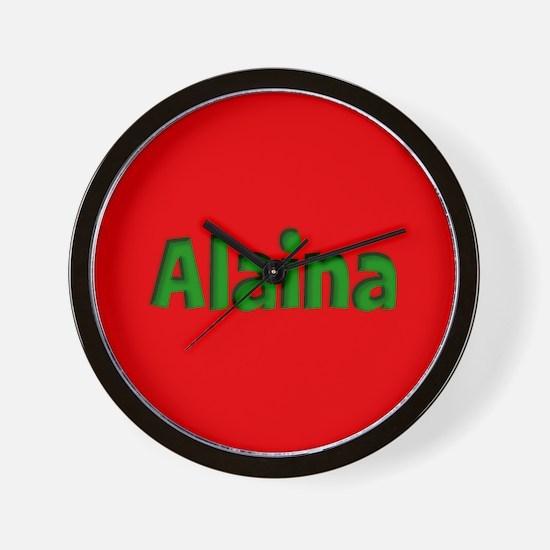 Alaina Red and Green Wall Clock