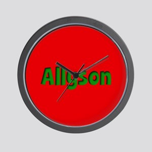 Allyson Red and Green Wall Clock