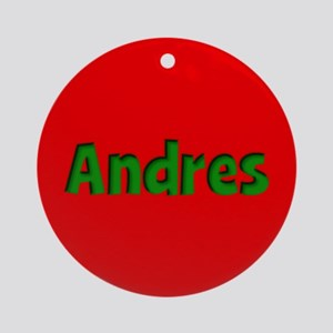 Andres Red and Green Ornament (Round)