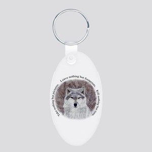 Timeless Wisdom: Aluminum Oval Keychain