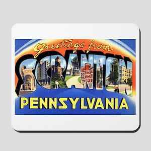 Scranton Pennsylvania Greetings Mousepad