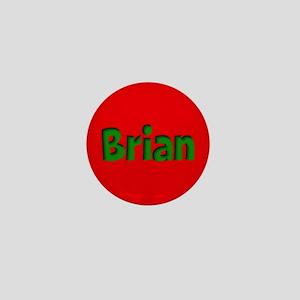 Brian Red and Green Mini Button