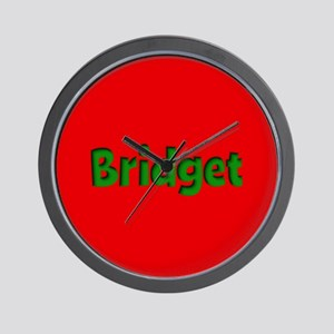 Bridget Red and Green Wall Clock