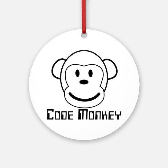 Code Monkey Ornament (Round)