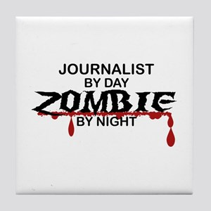 Journalist Zombie Tile Coaster