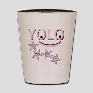 Happy Yolo Shot Glass