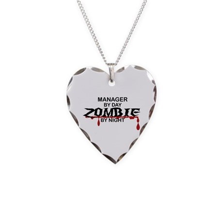 Manager Zombie Necklace Heart Charm