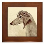 Saluki Framed Tile