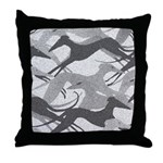 Leaping Hound Throw Pillow