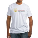 Mahasukha Logo with Title Fitted T-Shirt