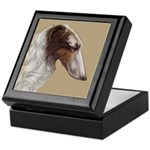 Borzoi Head Study Trinket Box