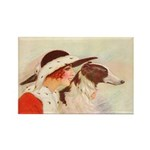 Lady and Borzoi Magnet 10PK