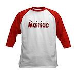 Christmas Mainiac Kids Baseball Jersey