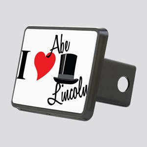 I Love Abe Lincoln Rectangular Hitch Cover