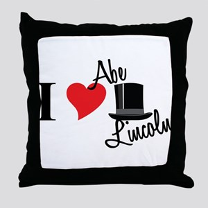 I Love Abe Lincoln Throw Pillow
