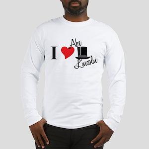 I Love Abe Lincoln Long Sleeve T-Shirt